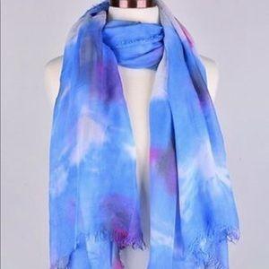 Watercolor scarf (blue)
